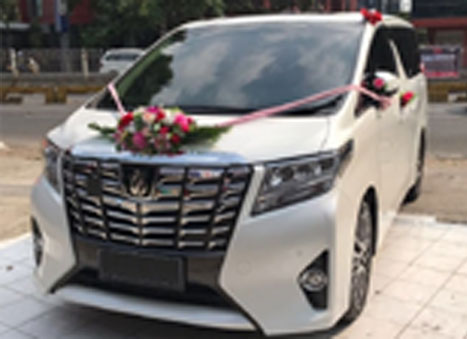 wedding car alphard