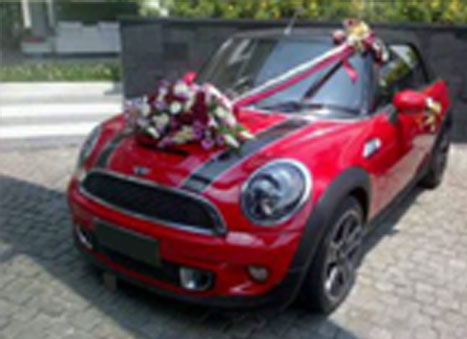 wedding car mini cooper